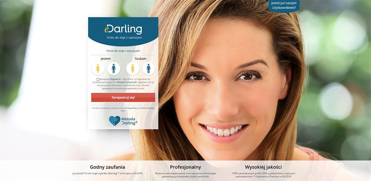 eDarling - strona główna portalu randkowego