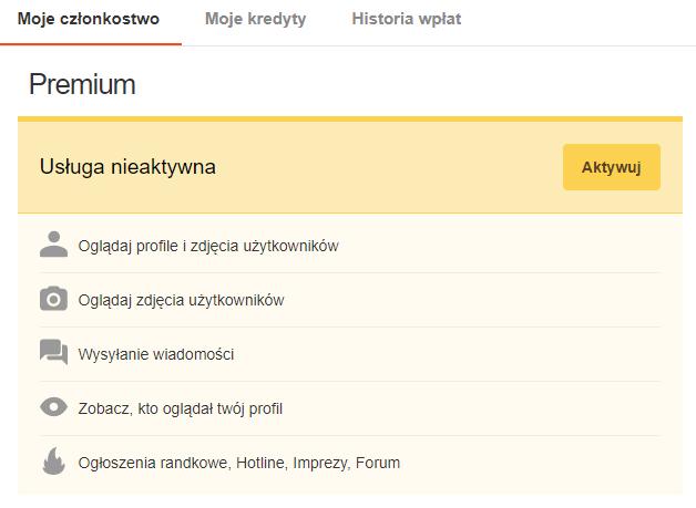 Udogodnienia dla użytkowników Premium na Erodate