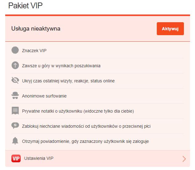 Zalety konta VIP na Erodate